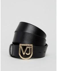 Versace Jeans Belt With Metal Shield Buckle