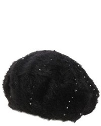 Sole Society Faux Fur Beret White