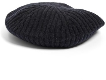 ... Halogen Slouchy Ribbed Cashmere Beret Pink ... a9fbe968607