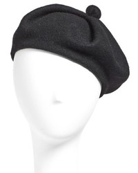 Wool blend beret black medium 785371