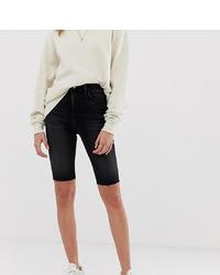 Reclaimed Vintage Inspired Legging Shorts In Washed Black