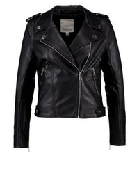 Faux leather jacket black medium 3993538