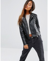 Leather look biker jacket medium 781271