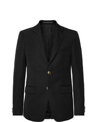 Givenchy Black Slim Fit Twill Blazer