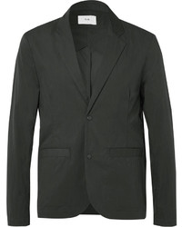 Black tech cotton blend blazer medium 1149020