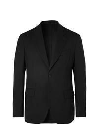 Versace Black Virgin Wool Suit Jacket