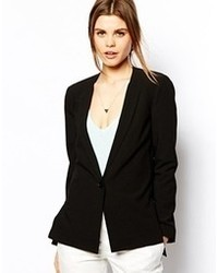 Asos Blazer In Crepe With Vent Side