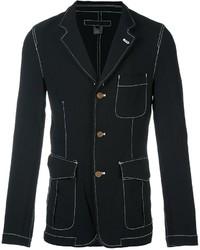 Comme des Garcons Comme Des Garons Shirt Contrast Stitching Three Button Blazer