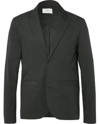 Folk Black Technical Cotton Blend Blazer