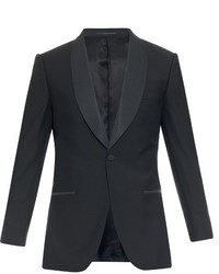 Gieves Hawkes Shawl Collar Wool And Mohair Blend Blazer