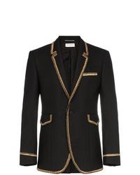 Saint Laurent Gold Braided Blazer