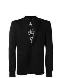 Philipp Plein Jersey Formal Blazer