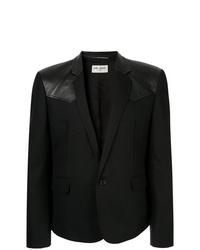 Saint Laurent Leather Panel Blazer