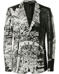 Alexander McQueen London Map Blazer