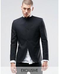 ONLY & SONS Skinny Mandarin Collar Blazer With Stretch