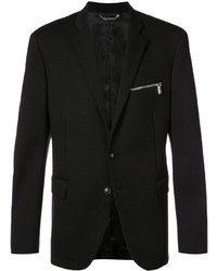 Versace Zip Pocket Knit Blazer