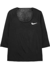 Nike Cool Breeze Dri Fit Slub Jersey Top Black