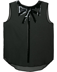 Moschino Sleeveless Bow Illusion Blouse