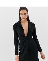 Asos Tall Asos Design Tall Sexy Drape Bodycon Shirt Dress
