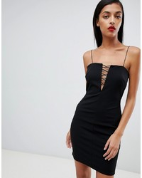 ASOS DESIGN Cut Out Trim Mini Dress