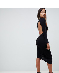 ASOS DESIGN Long Sleeve Extreme Open Back Midi Bodycon Dress