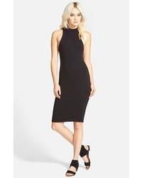 Leith Mock Neck Midi Dress