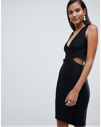 Miss Selfridge Plunge Cut Out Bodycon Midi Dress
