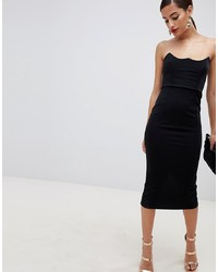 ASOS DESIGN Wired Bodycon Midi Dress