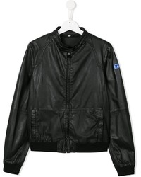 Armani Junior Band Collar Bomber Jacket