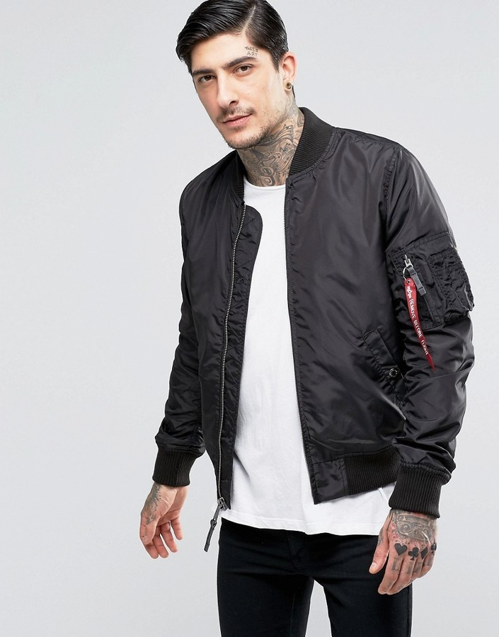 Alpha Industries Ma 1 Bomber Jacket Slim Fit In Black | Where to ...