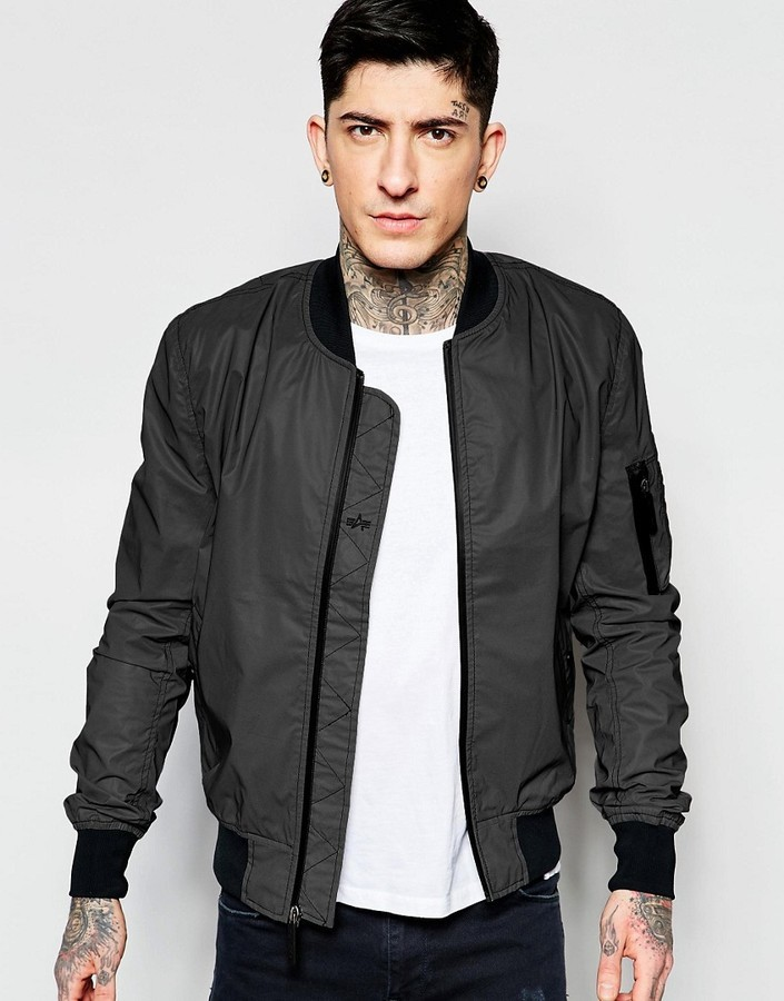 Alpha Industries Ma1 Reflective Bomber Jacket Slim Fit | Where to ...