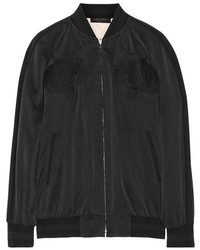 Rag and Bone Rag Bone Rag Bone Akita Reversible Washed Silk Bomber Jacket
