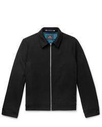 PS Paul Smith Two Tone Wool Blend Twill Blouson Jacket
