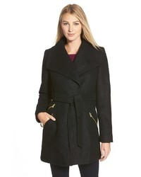 GUESS Belted Boucl Wrap Coat