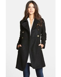 GUESS Double Breasted Boucle Cutaway Coat