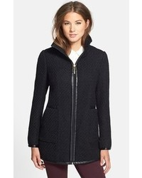 Ellen Tracy Front Zip Boucl Coat
