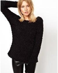 Sweater in fluffy open knit medium 41633