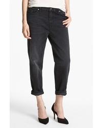 J Brand 1265 Ace Crop Boyfriend Jeans Arcadian Black Size 24 24