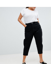 Asos Curve Asos Design Curve Balloon Boyfriend Jeans In Clean Black