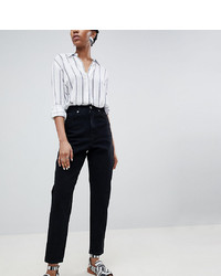 Asos Tall Asos Design Tall Balloon Boyfriend Jeans In Clean Black