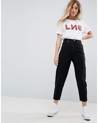 ASOS DESIGN Balloon Leg Boyfriend Jeans In Clean Black