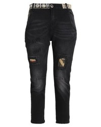 Desigual Camel Boyfriend Relaxed Fit Jeans Black