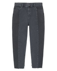 Mango Desi Relaxed Fit Jeans Black