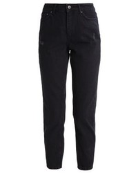 Only Onlmom Ankle Relaxed Fit Jeans Black