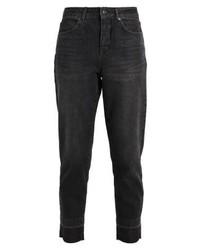 Selected Femme Sffrida Mom Pocket Relaxed Fit Jeans Black Denim