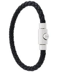 Salvatore Ferragamo Braided Press Clasp Bracelet