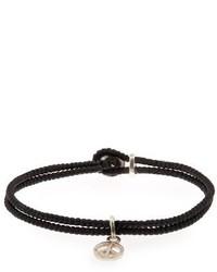 Paul Smith Waxed Rope Peace Bracelet