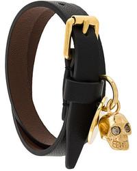 Alexander McQueen Wrap Skull Bracelet
