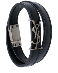 Saint Laurent Ysl Double Wrap Bracelet