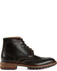 Black brogue boots original 6703318